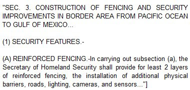 Secure Fence Act of 2006 Section 3
