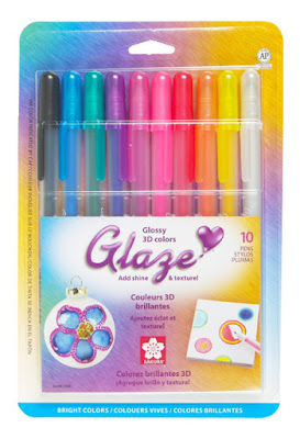 Glaze Assorted Color 3-Dimensional Glossy Ink Pen Set Bright