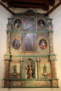 The Spanish Mission Reredos of San Miguel Chapel in Santa Fe, New Mexico