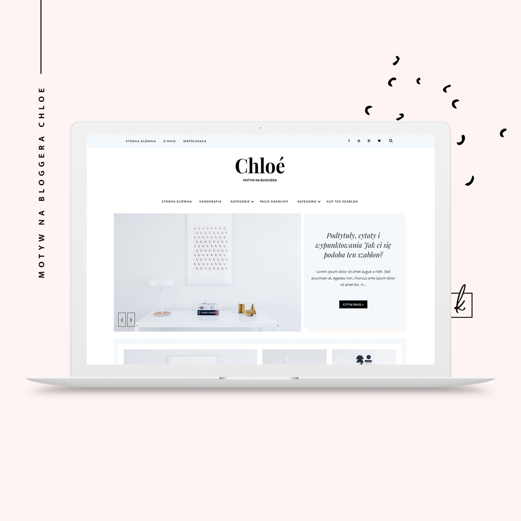 motyw na bloggera Chloe