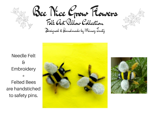 Needle Felted Bees by Minaz Jantz