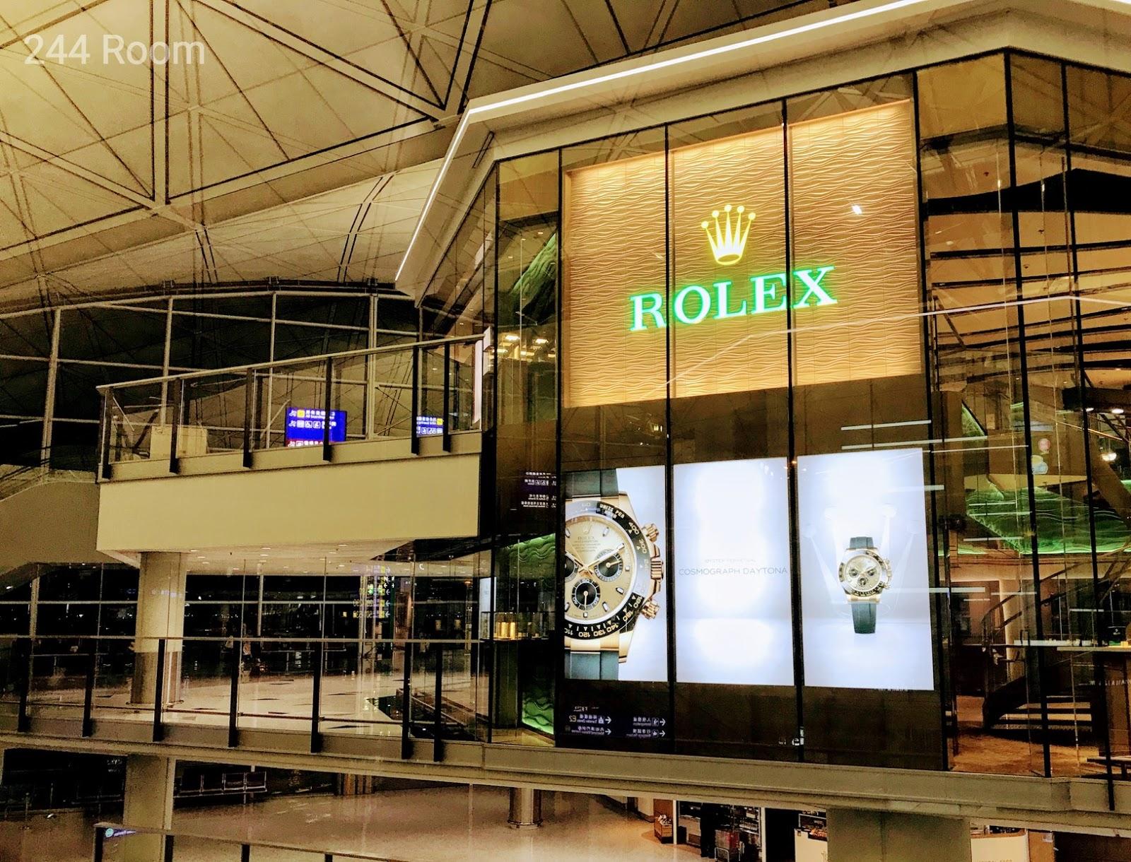 Rolex shop HKG Airport