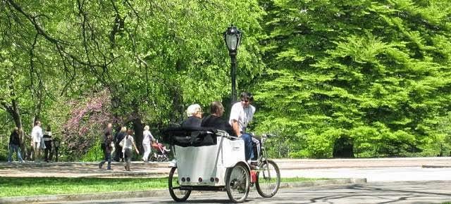 1 Hr Central Park Pedicab Rickshaw Tour