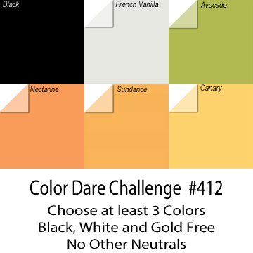 Challenge #412 Choice of 3 Colors  - CLOSES October 1st