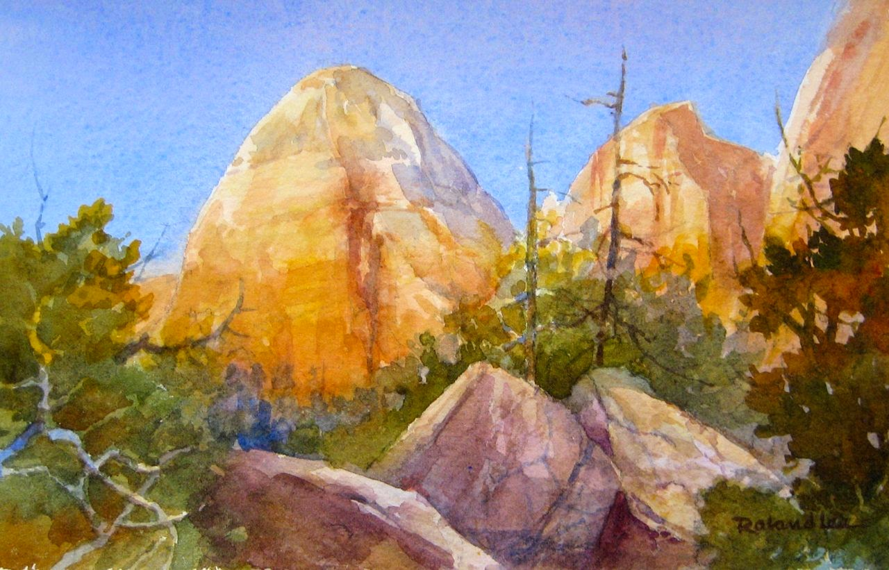 Roland Lee Plein Air Paintings At The Zion National Park