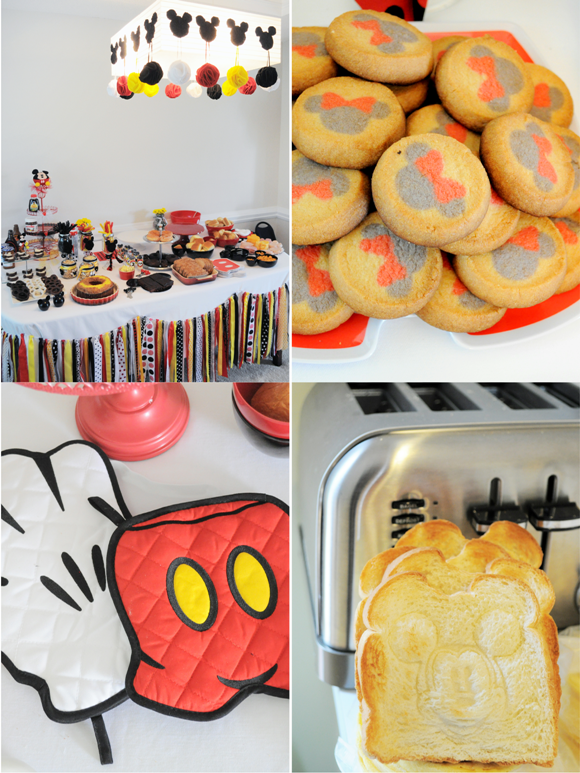 A Beautiful Mickey Inspired 2nd Birthday Party - via BirdsParty.com