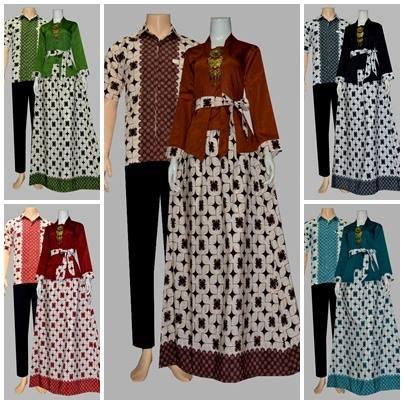 Batik Bagoes Solo Baju Batik Gamis Sarimbit