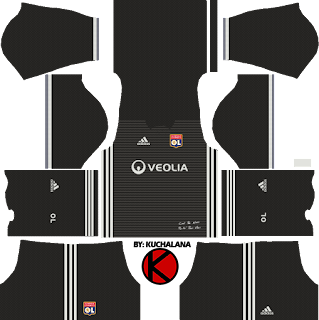 Olympique Lyonnais Kits 2017/2018 - Dream League Soccer Kits