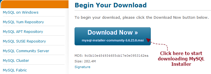 Download And Install MySQL For Database Testing Using Selenium WebDriver