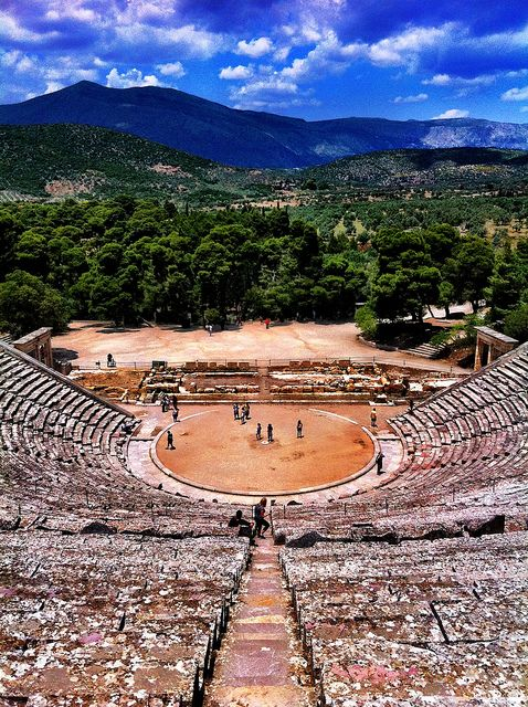 Ancient Theater of Epidaurus Greece  Photo by tgeorgakopoulos on flickr