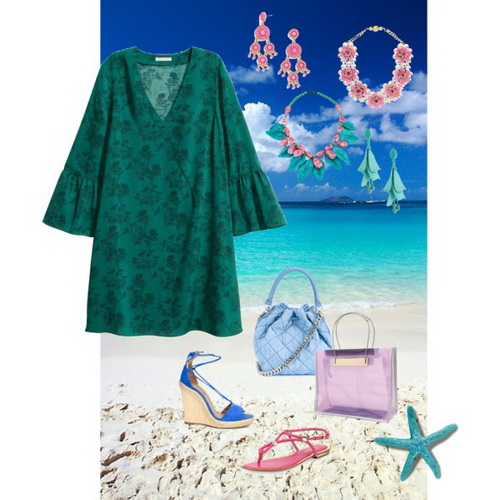 фотосессия на море в платье
