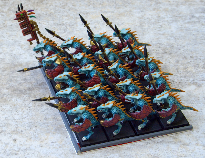 20 Saurus Warriors with full command
