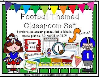 football themed classroom