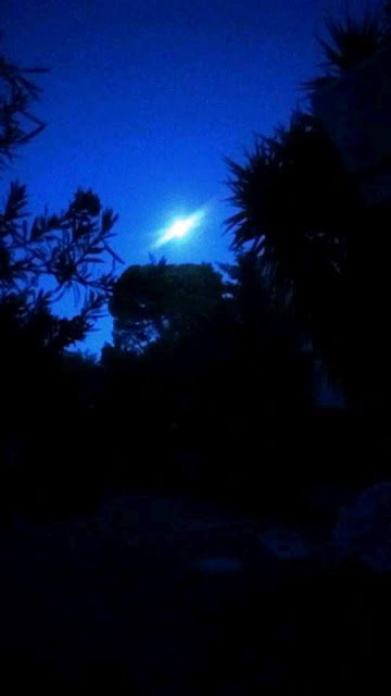 August moon over my garden Loutraki, Greece