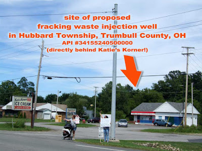 site of proposed fracking waste injection well, Hubbard Twp, Trumbull County, Ohio - 200 feet from food manufacturing plant