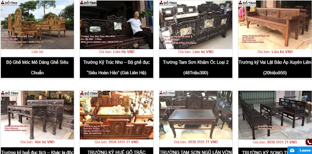 Đồ gỗ Đỗ Tĩnh - Nơi bán bàn ghế cổ đẹp