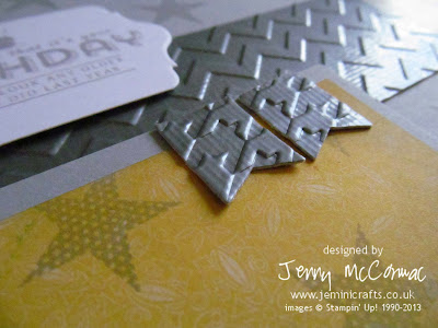 Big Shot embossing for Masculine card Jemini Crafts