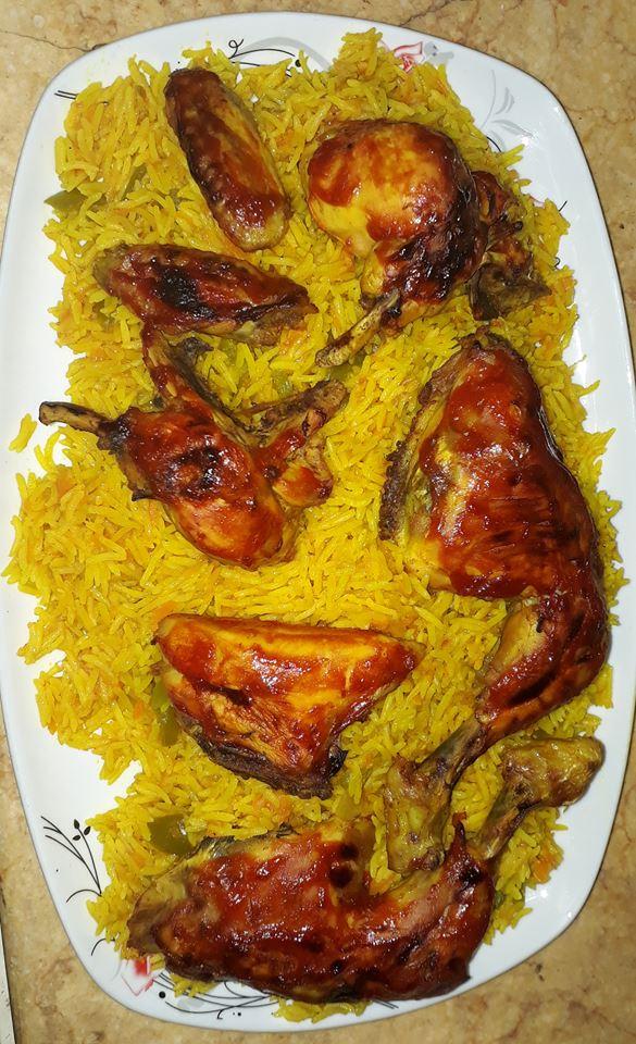 ز بخاري ودجاج  حقيقي طعمه احلى من بتاع المطاعم