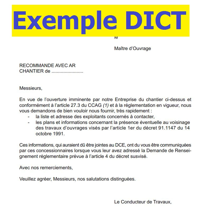 Exemples Dict Declaration D Intention De Commencement De Travaux