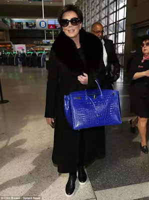 picture of kris jenner $95000 bag