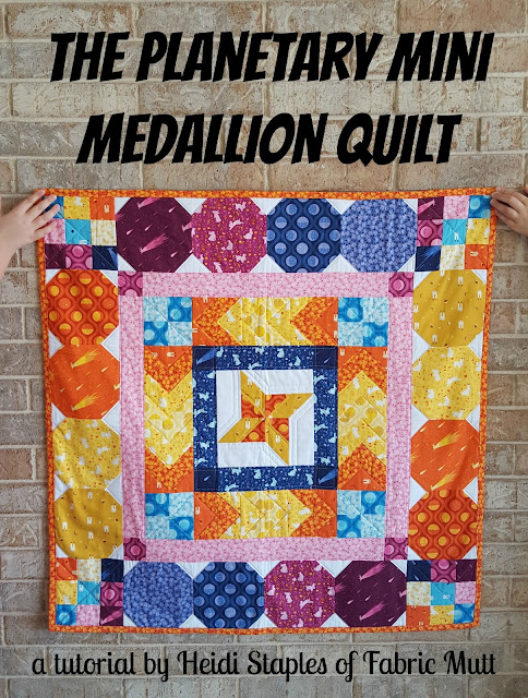 Planetary Mini Medallion Quilt Tutorial by Heidi Staples of Fabric Mutt with Luina Sol Fabric