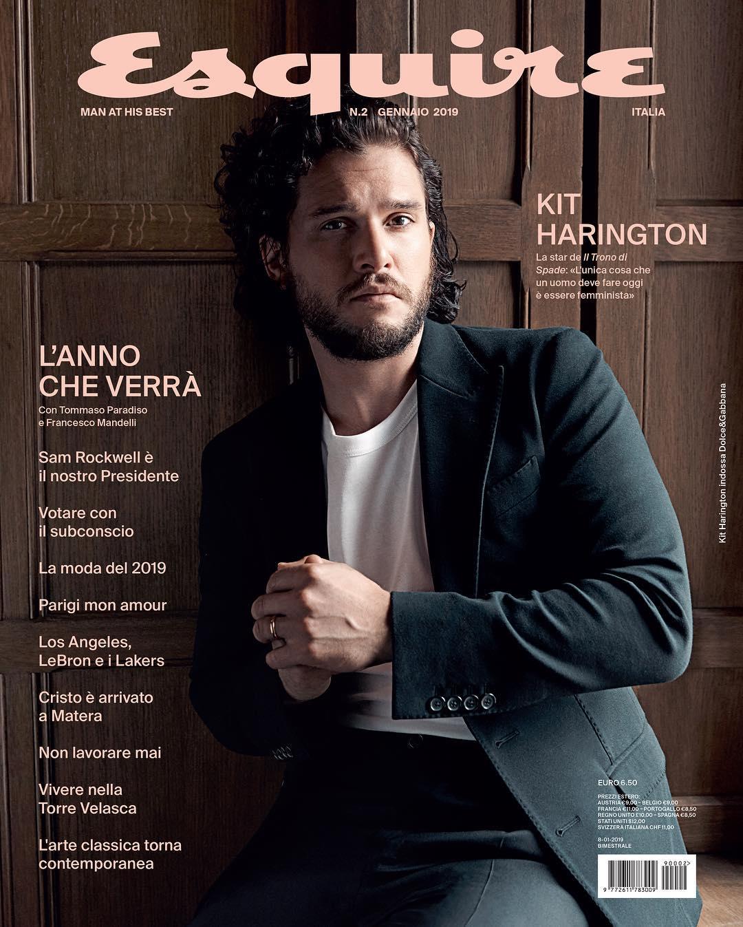 Kit Harington y Sam Rockell para Esquire Italia Febrero 2019