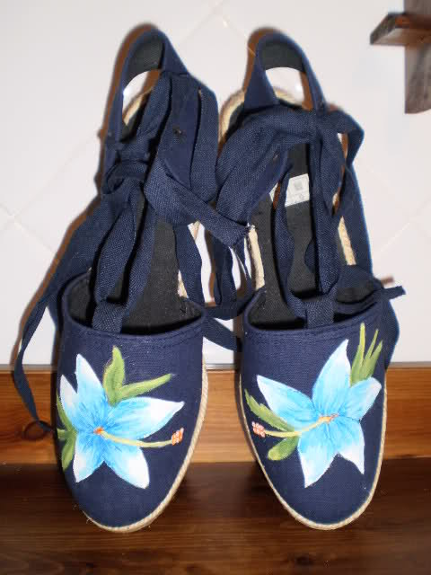 zapatillas, customizar, pintar, manualidades, dibujar, diys