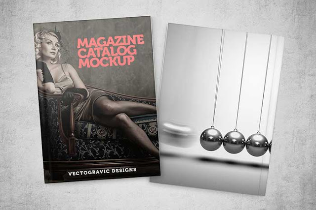 Magazine Catalog Mockup PSD