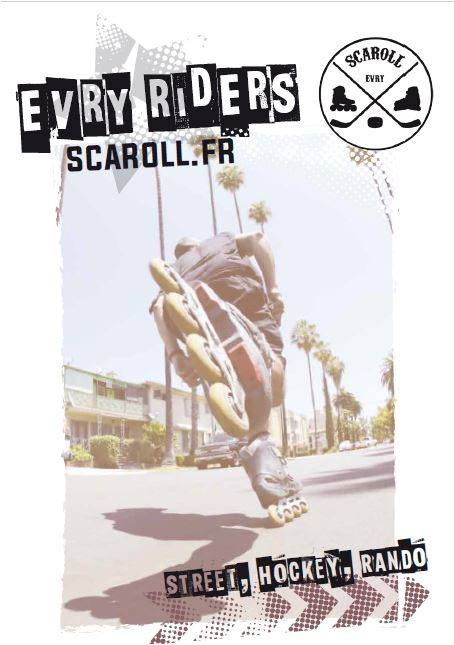 teeshirt scaroll roller evry maillot logo  roller club association 91 essonne idf
