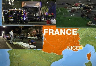 Nice: '75 dead' as lorry hits crowds in French city