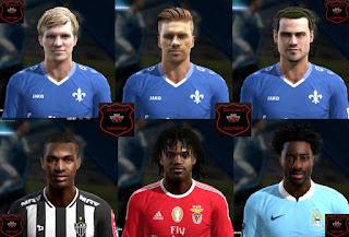 Faces: Frickson Erazo, Jungwirth, Renato Sanchez, Tobias Kempe, Wilfried Bony, Yannick Stark, Pes 2013