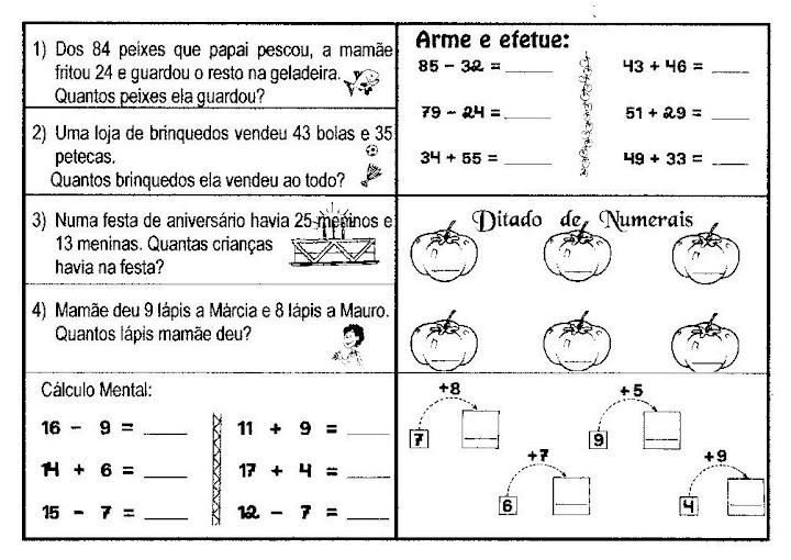 Matemática 2 Ano 60 Problemas Desafios Atividades P Imprimir