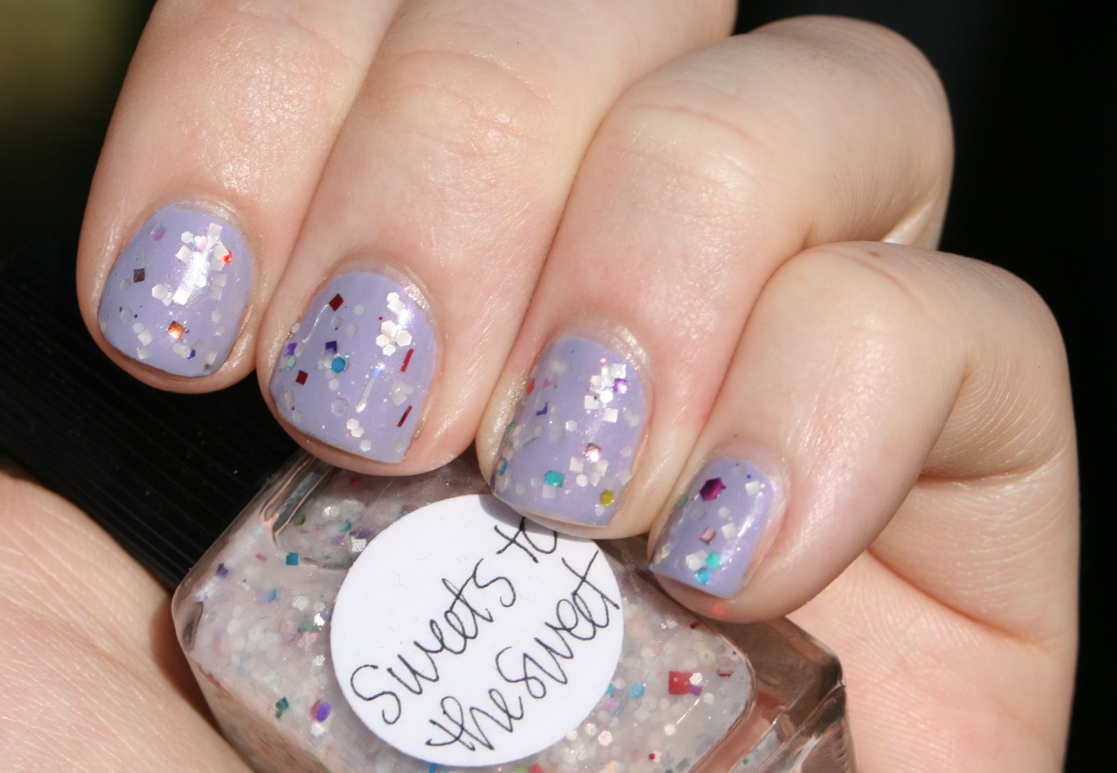 Lynnderella Sweets to the Sweet over Essie She's Picture Perfect swatch