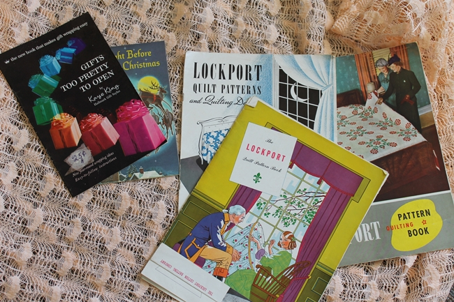 1930s quilting booklets and 1950s gift wrap ideas