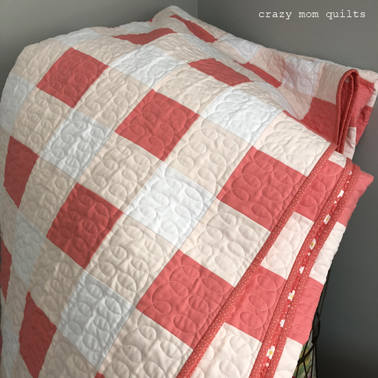 Crazy Mom Quilts Gingham Quilt Complete