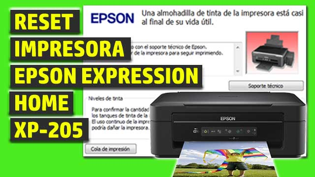 Reset impresora EPSON Expression Home XP-205