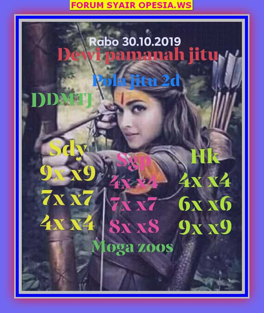 Kode syair Hongkong Rabu 30 Oktober 2019 42