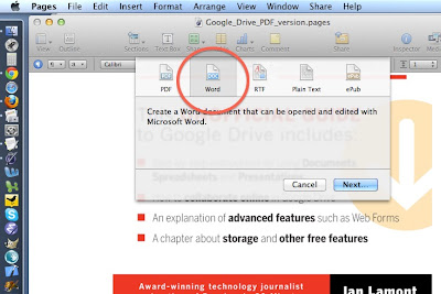 Google Drive support for Pages, Numbers, and other Apple iWork programs