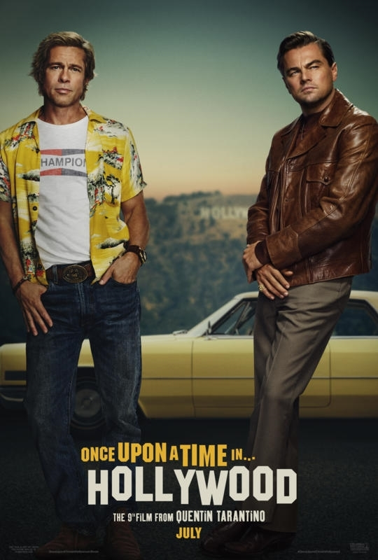 ONCE UPON A TIME IN HOLLYWOOD poster leonardo dicaprio brad pitt