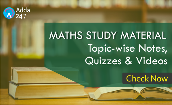 Maths Notes & Questions for SSC Exams