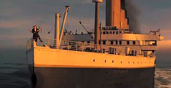 Titanic - cena Im Flaying do filme