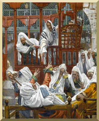 """The Possessed Man in the Synagogue"" -- by James Tissot"