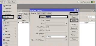Cara Setting Interface Mikrotik menjadi Bridge