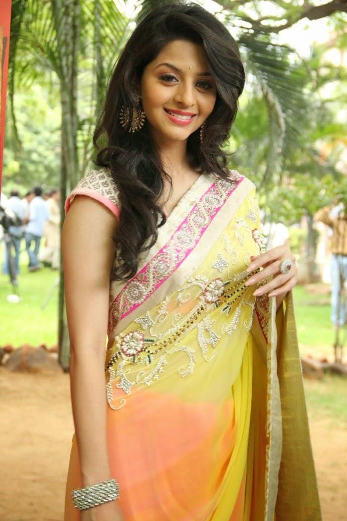 Actress Vedika Hot Photos In Yellow Saree