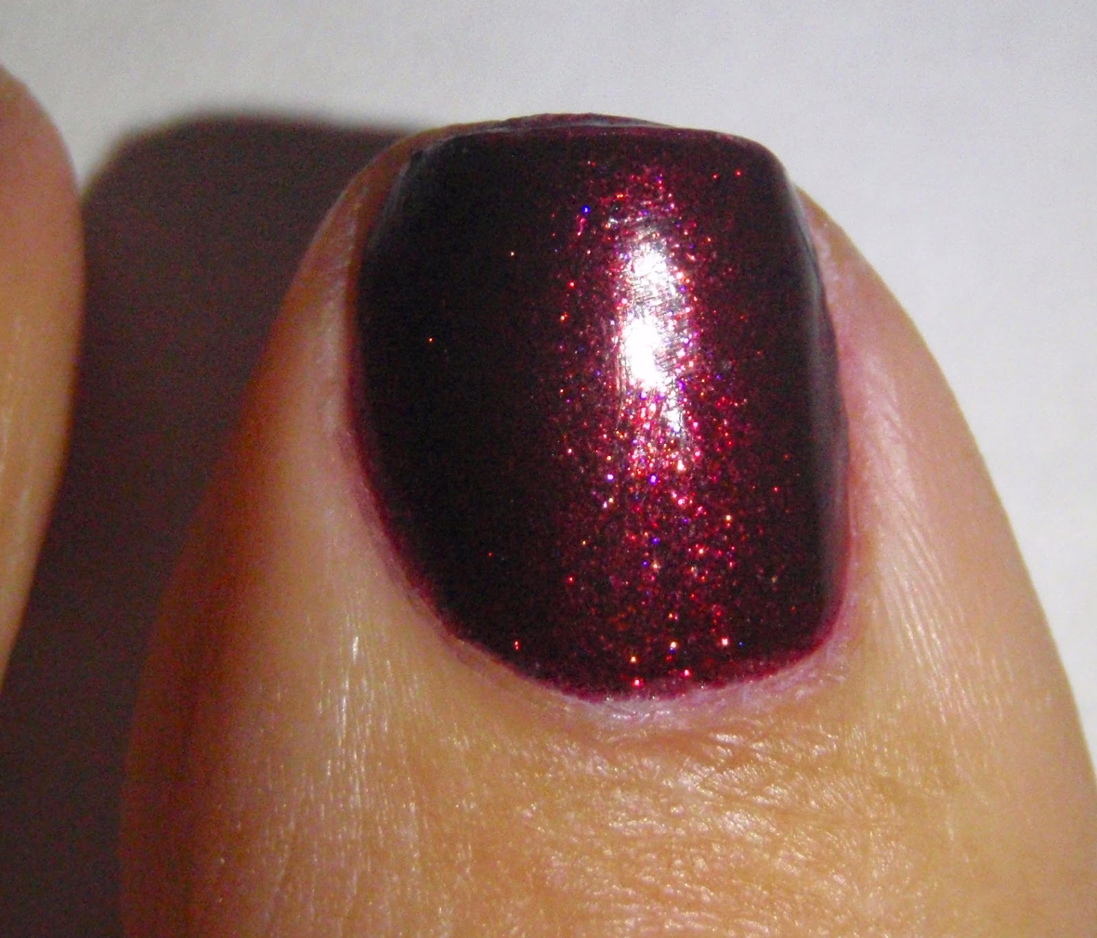 zoya india on toenails closeup