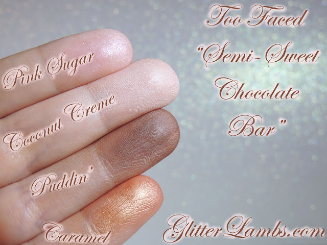 Pink Sugar, Coconut Creme, Puddin, Caramel-Swatches on my fingers