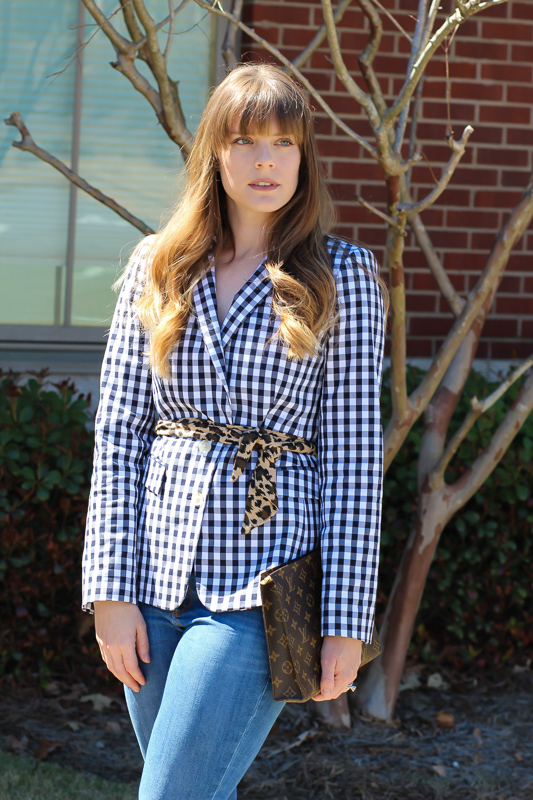 How to style a gingham blazer