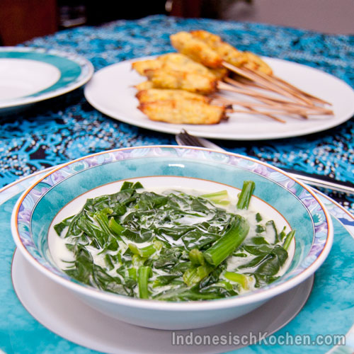 Spinat kokosmilch suppe indonesisch
