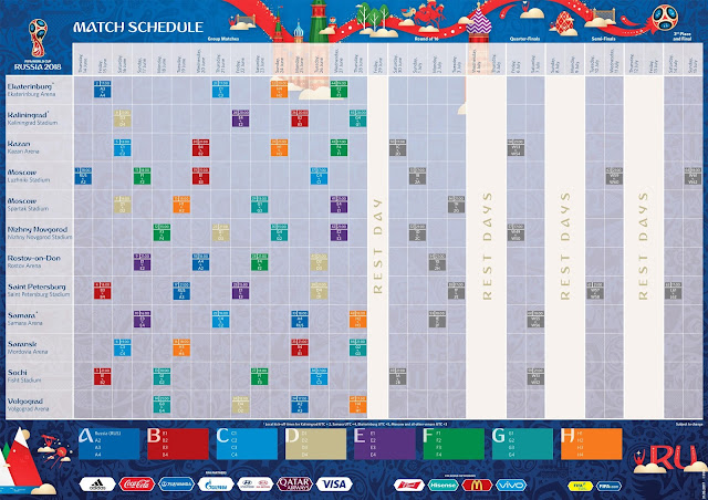 2018 FIFA World Cup Russia match schedule