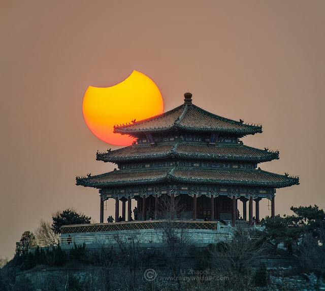 Сонячне затемнення в Пекіні